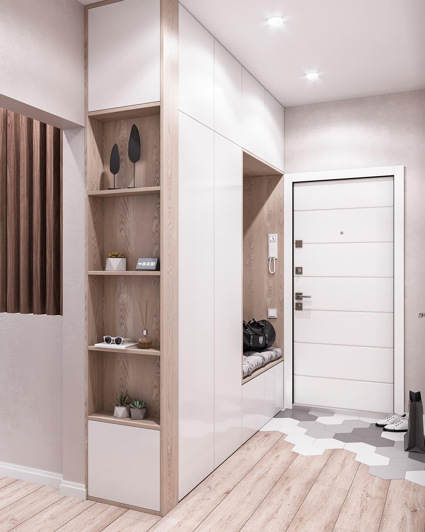 conception d'un appartement d'une pièce photo 69