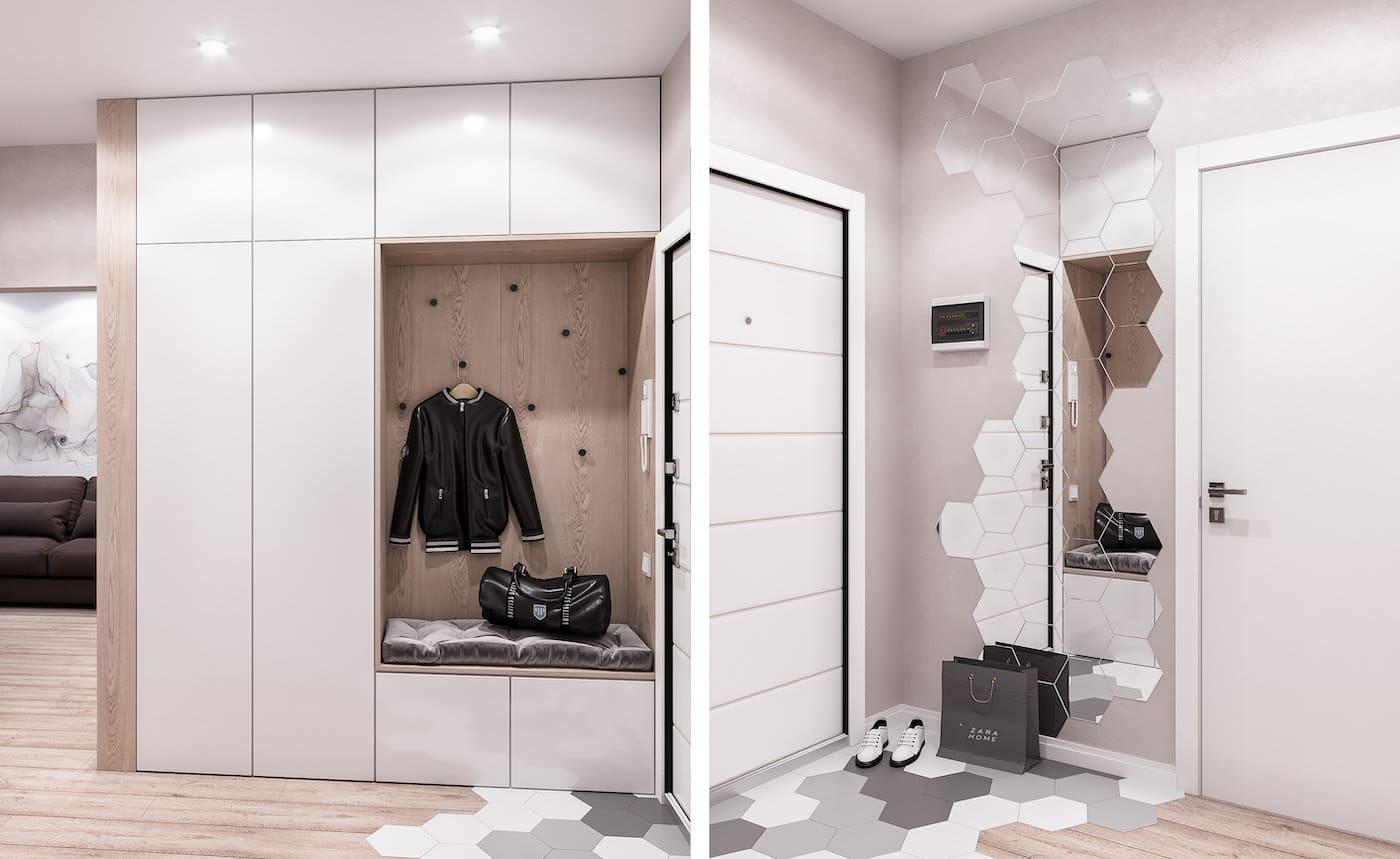 Conception d'un appartement à une chambre photo 70