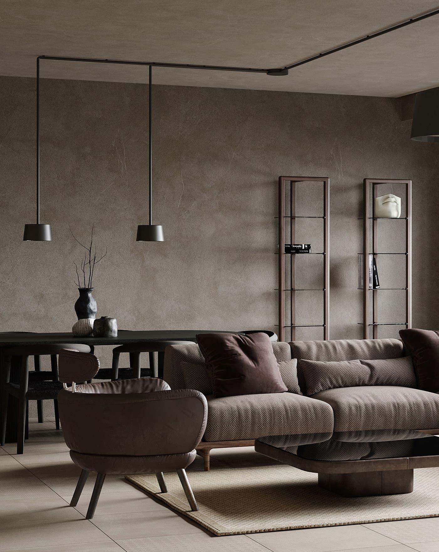 conception d'un appartement d'une pièce photo 3