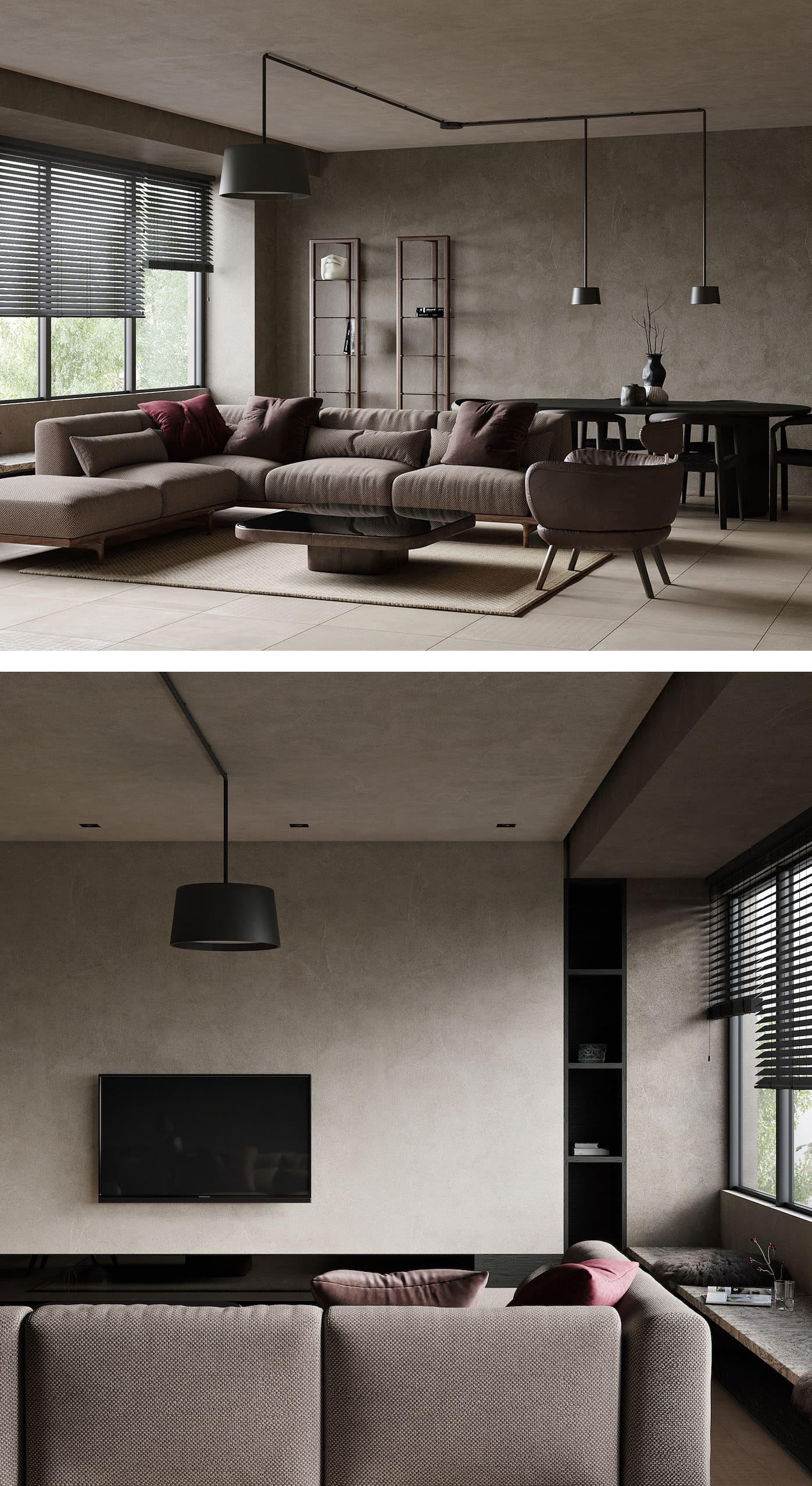 Design d'un appartement à une chambre photo 4