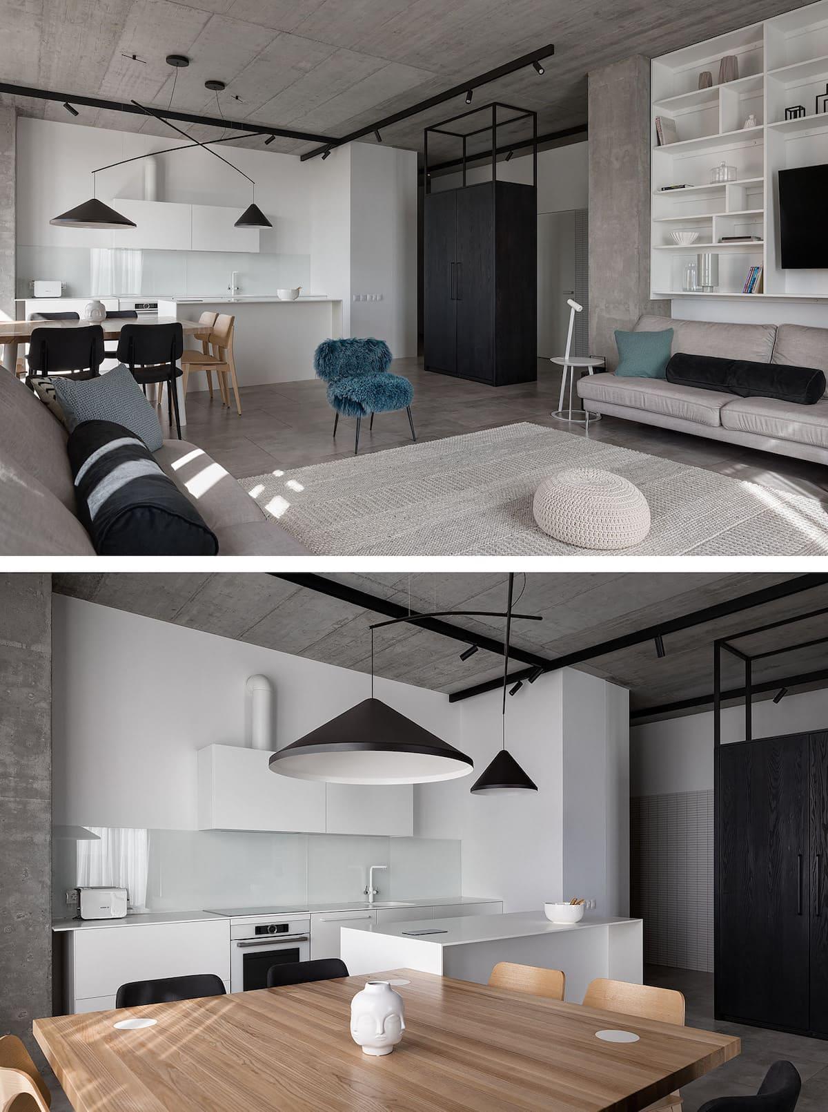 conception d'un appartement à une chambre photo 71