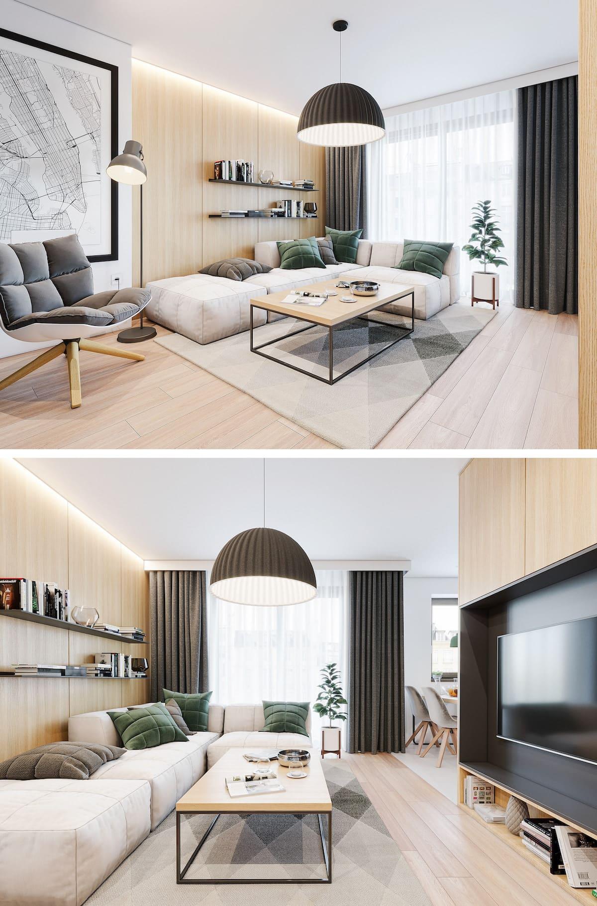 Conception d'un appartement à une chambre photo 72