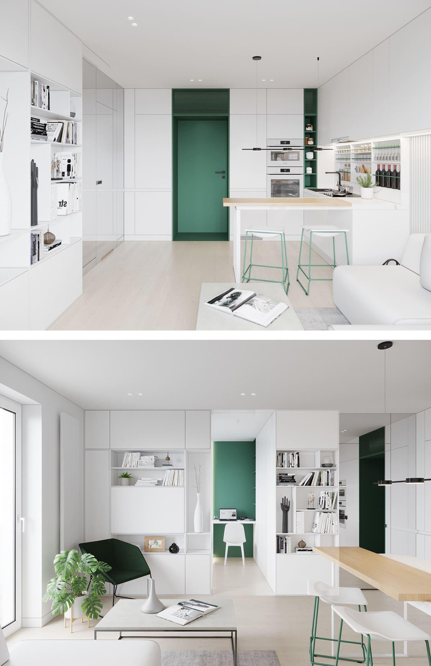 Conception d'un appartement d'une chambre à coucher photo 74