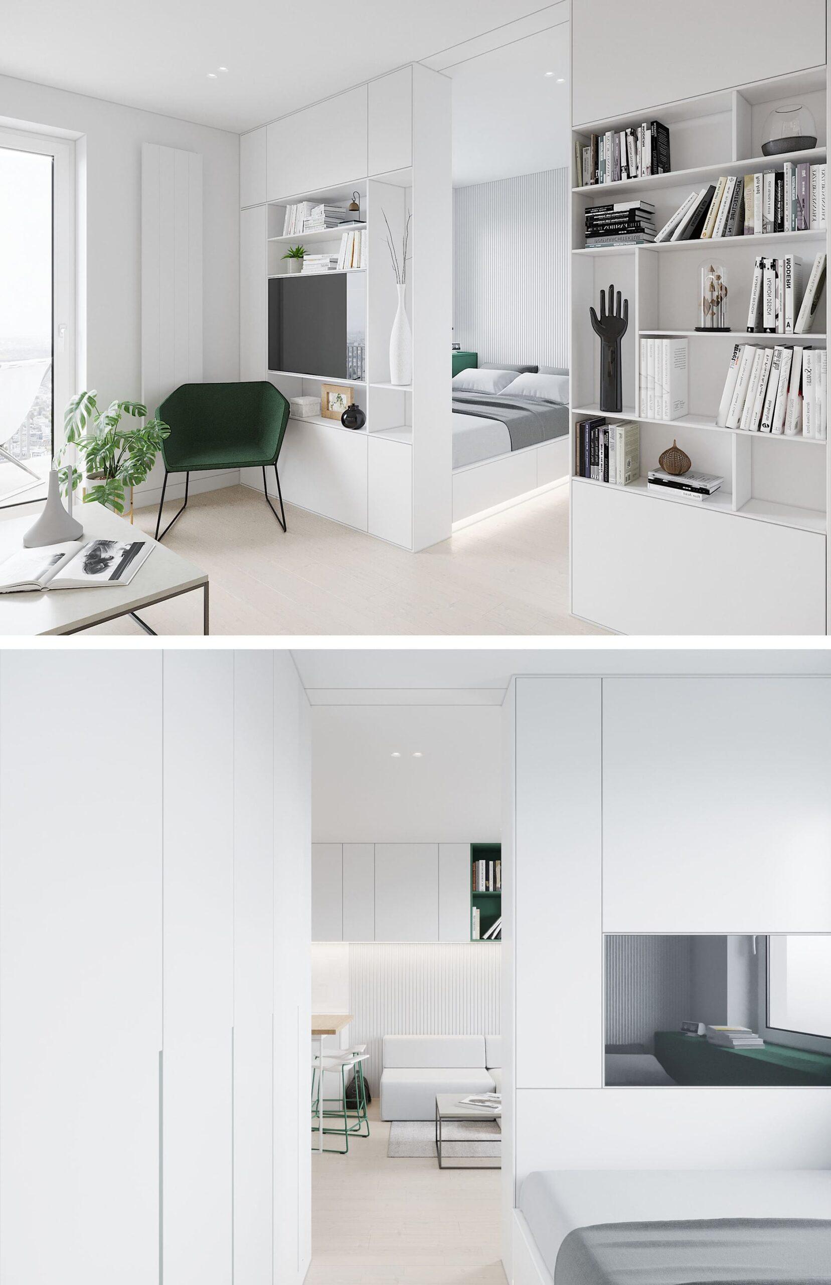 Conception d'un appartement à une chambre photo 75
