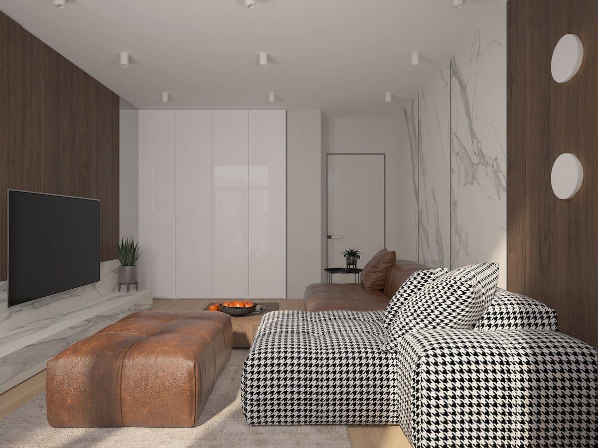 Design d'un appartement à une chambre photo 8