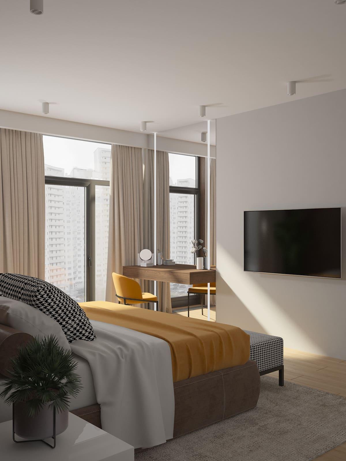 Design d'un appartement à une chambre photo 9