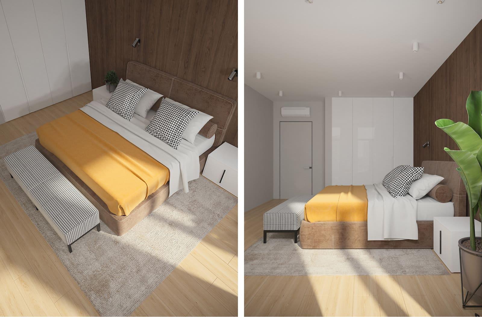 Conception d'un appartement à une chambre photo 11