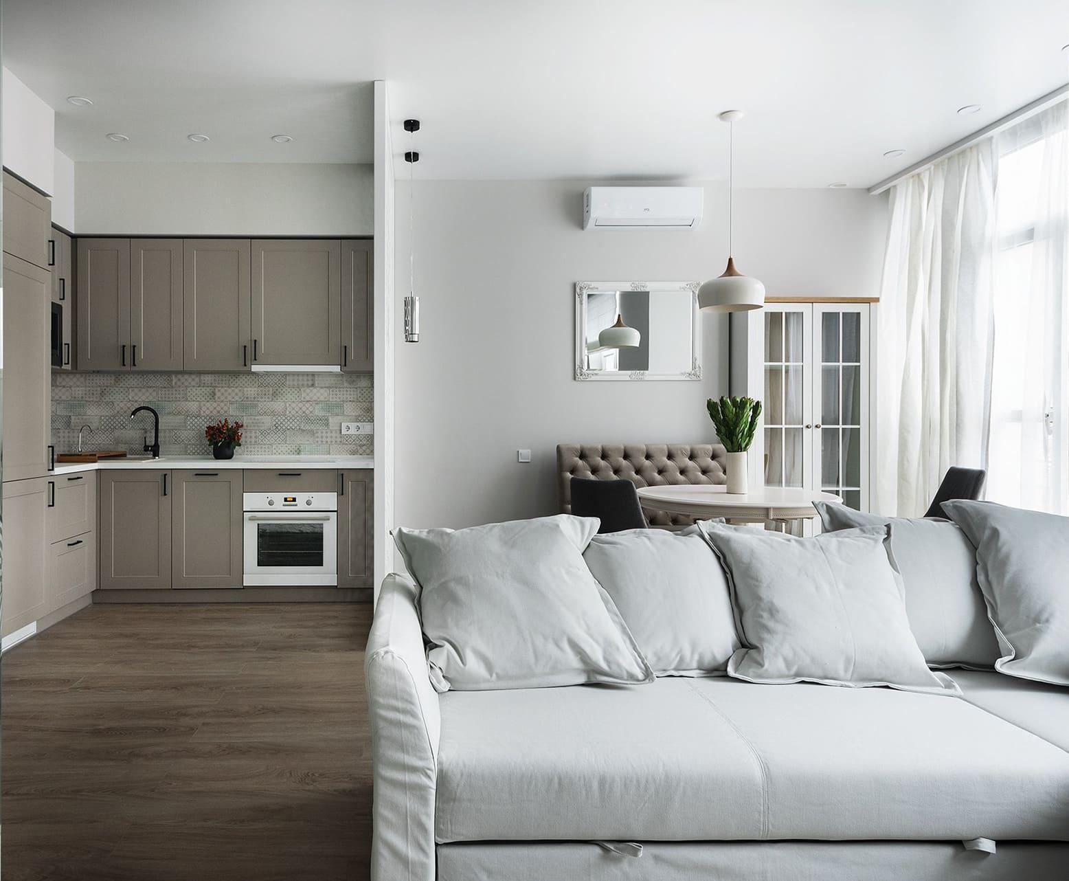 Conception d'un appartement à une chambre photo 35