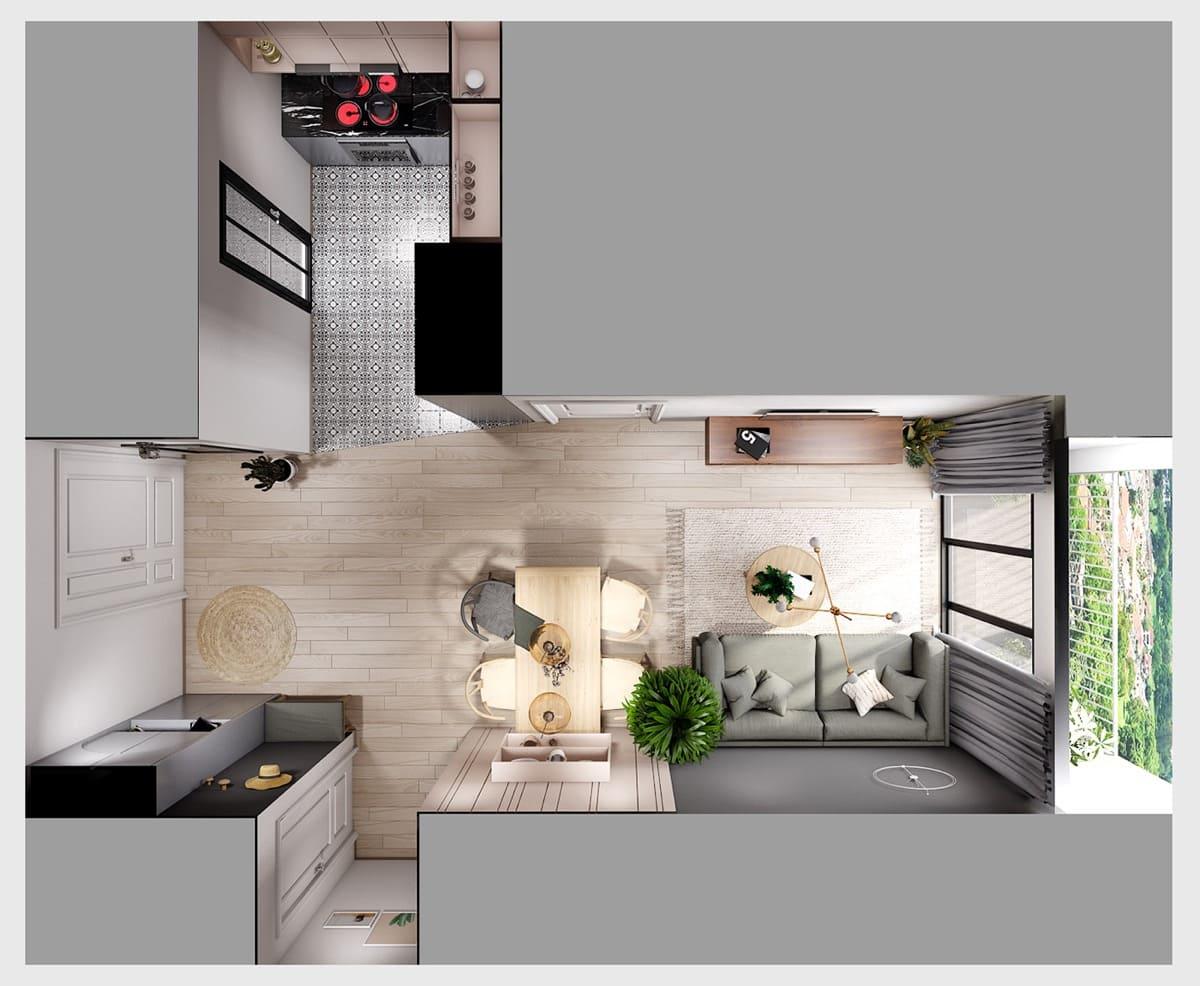 дизайн интерьера модной квартиры фото 76