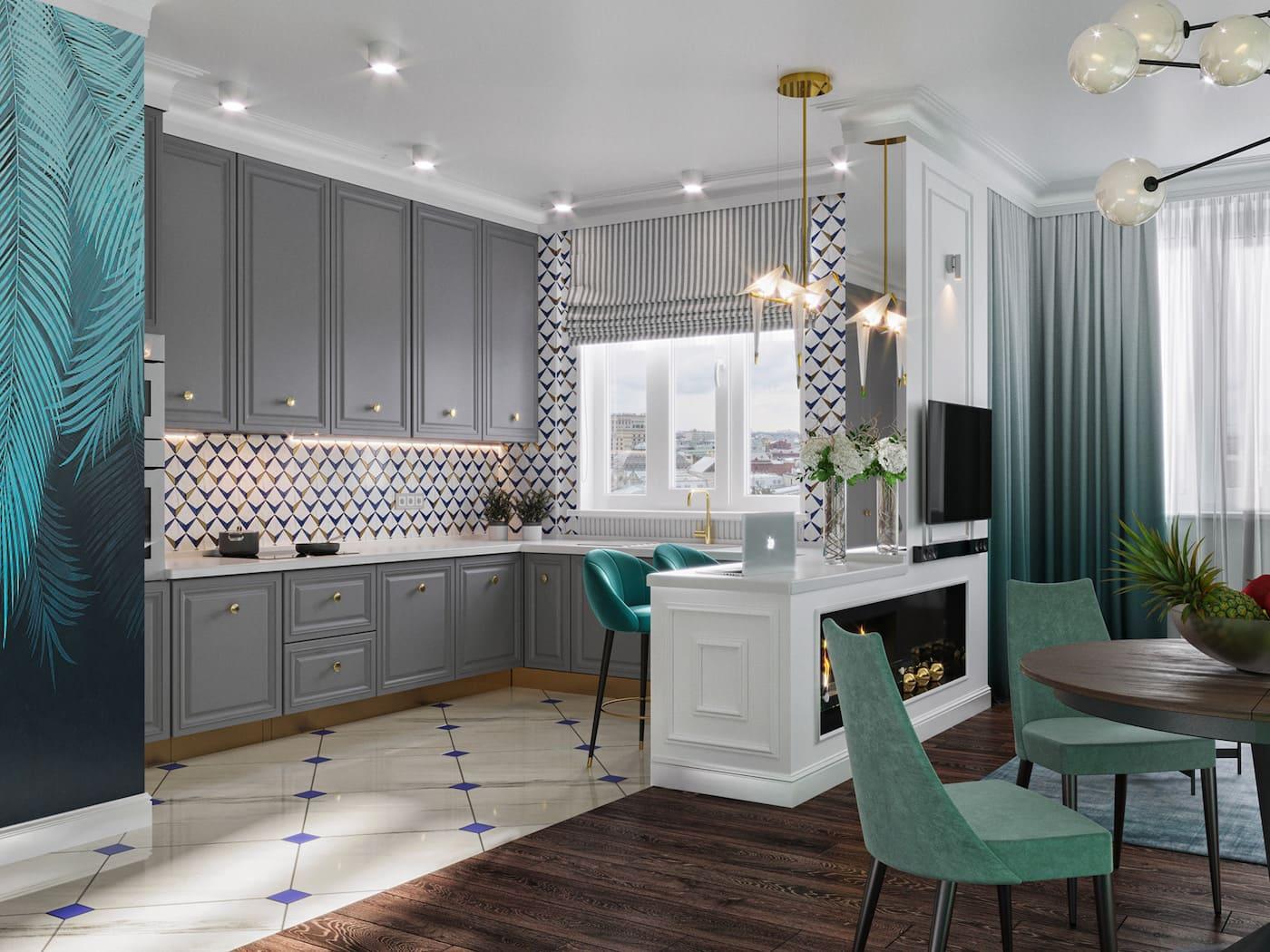 дизайн интерьера модной квартиры фото 31