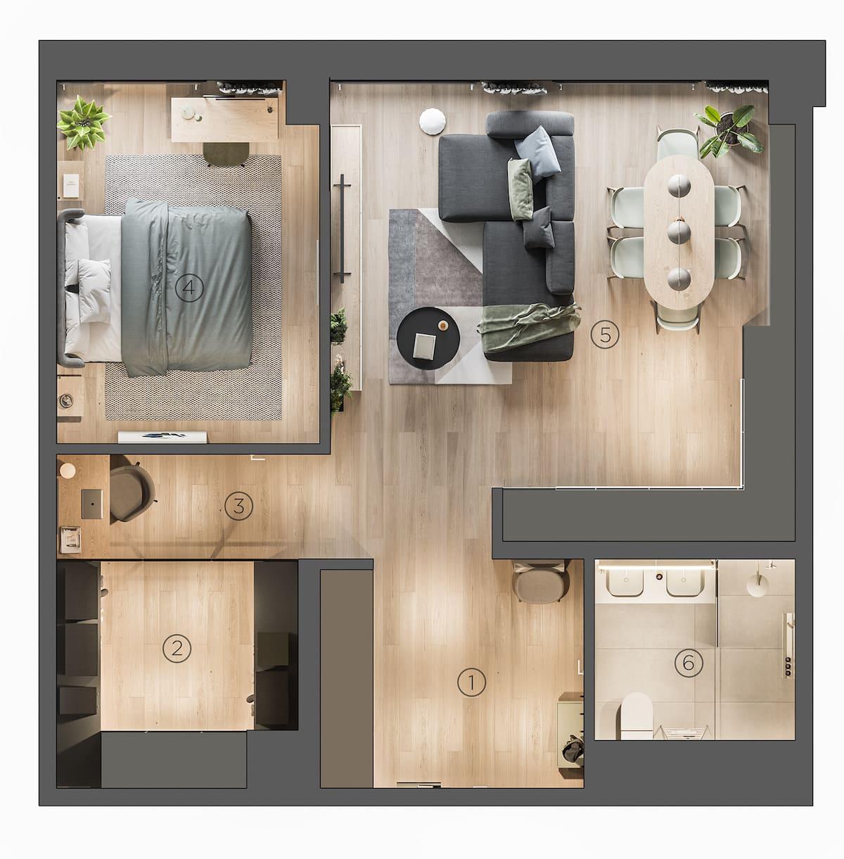 дизайн интерьера модной квартиры фото 44