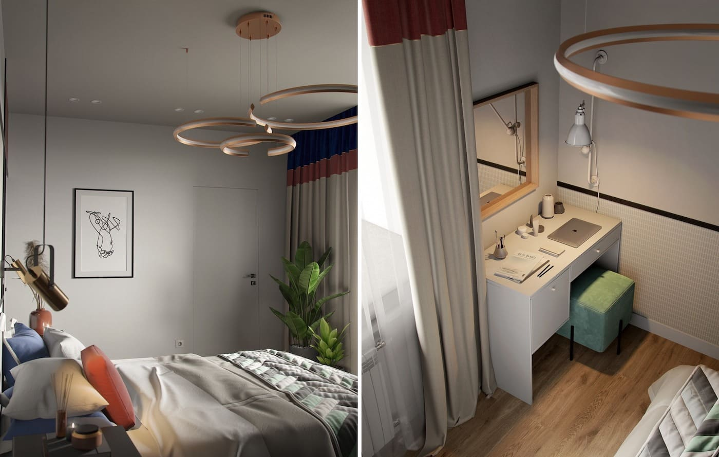 дизайн интерьера модной квартиры фото 59