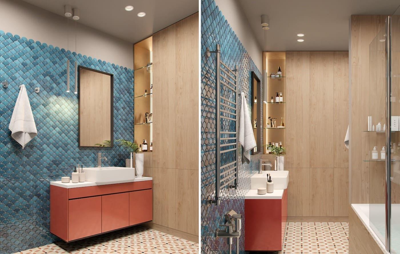 дизайн интерьера модной квартиры фото 61