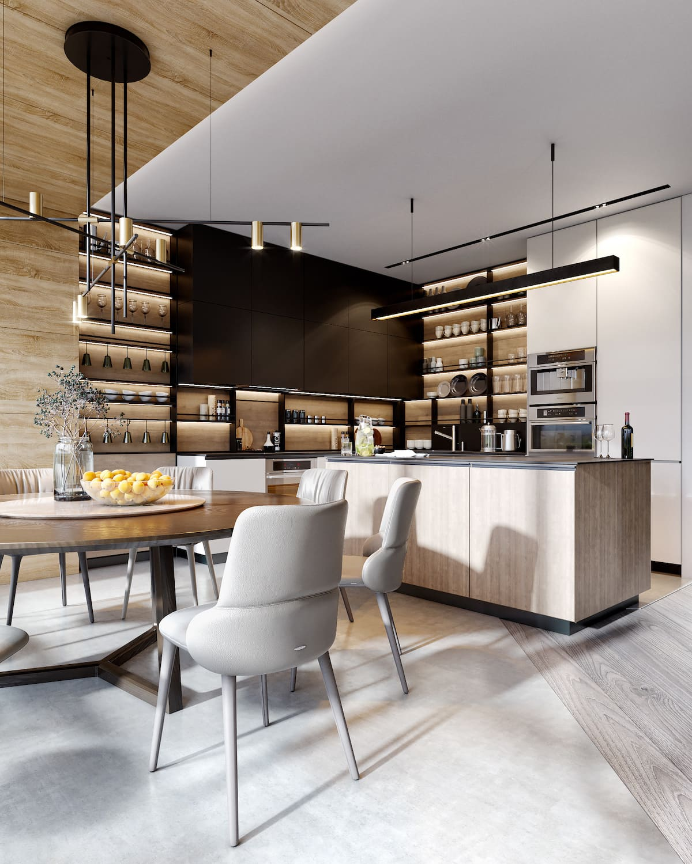 дизайн интерьера модной квартиры фото 37