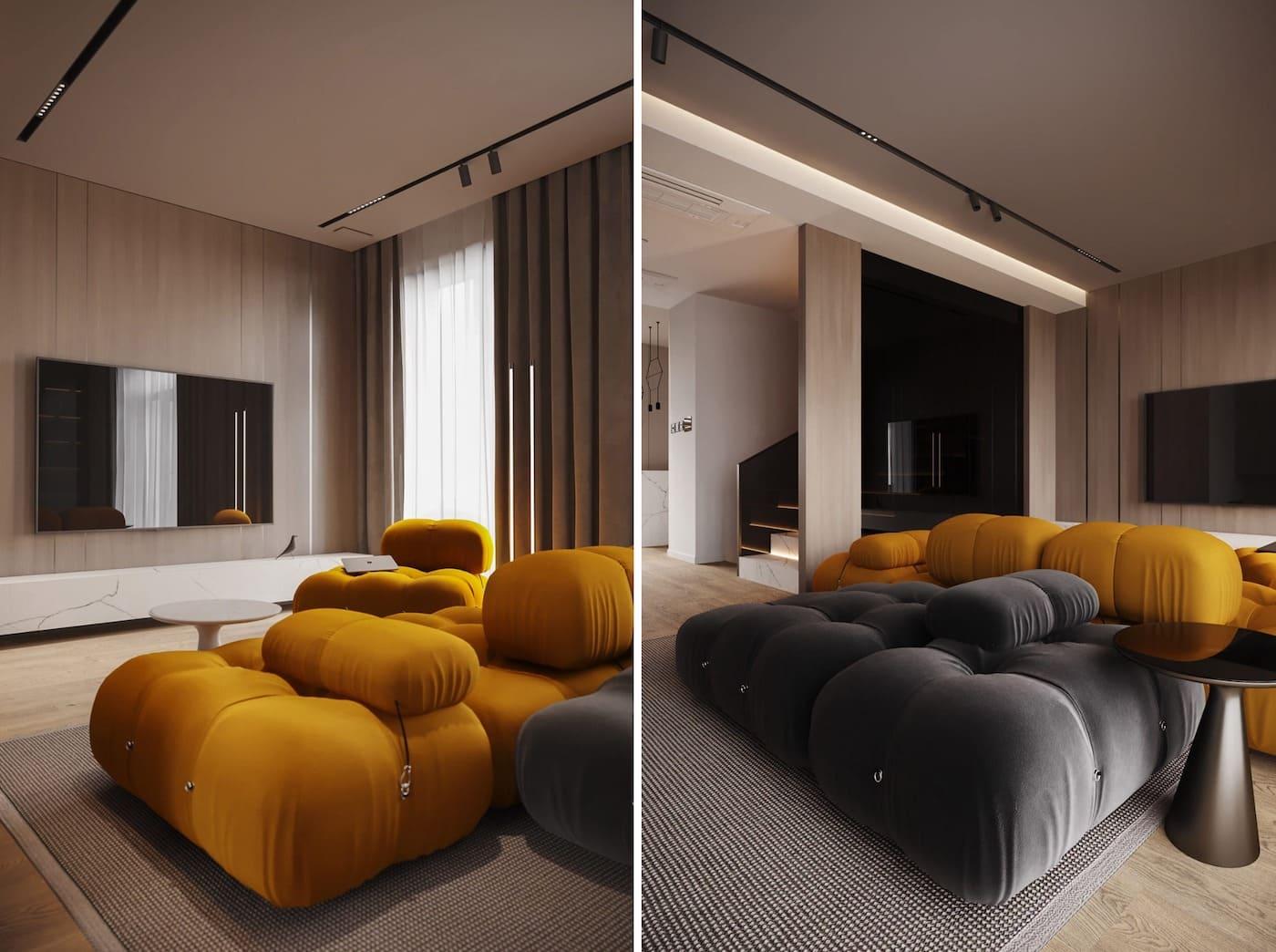 дизайн интерьера модной квартиры фото 4