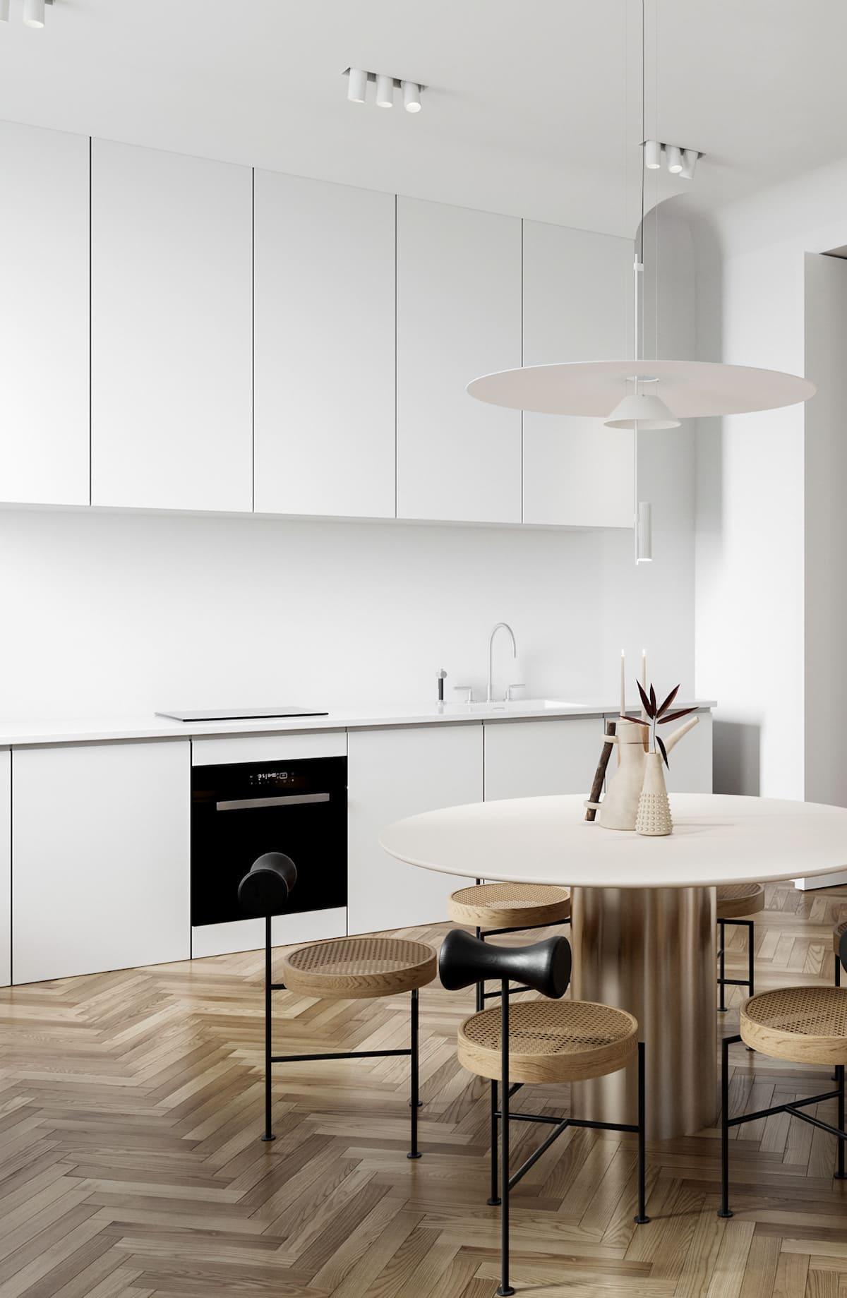 белая кухня фото 39
