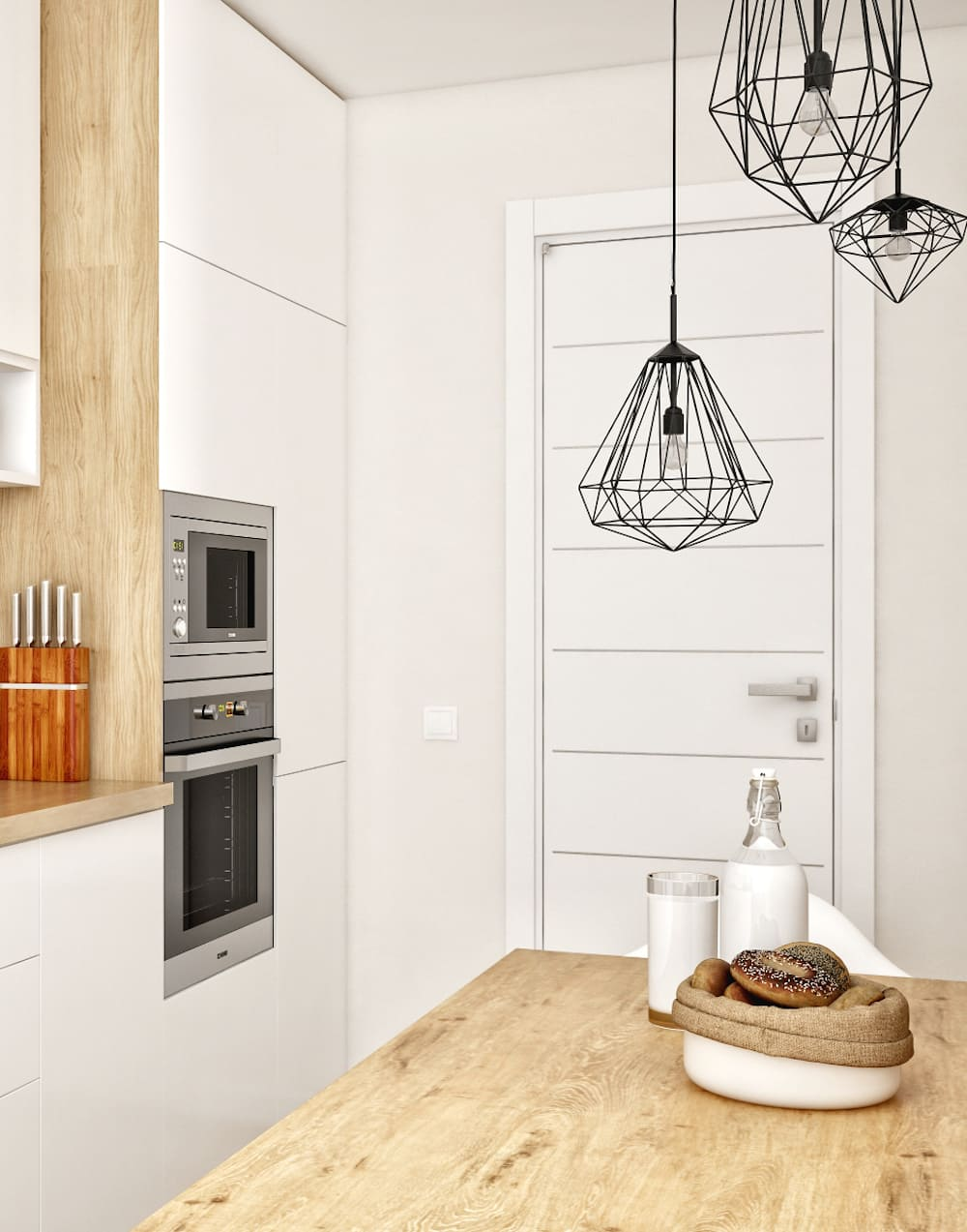 белая кухня фото 7