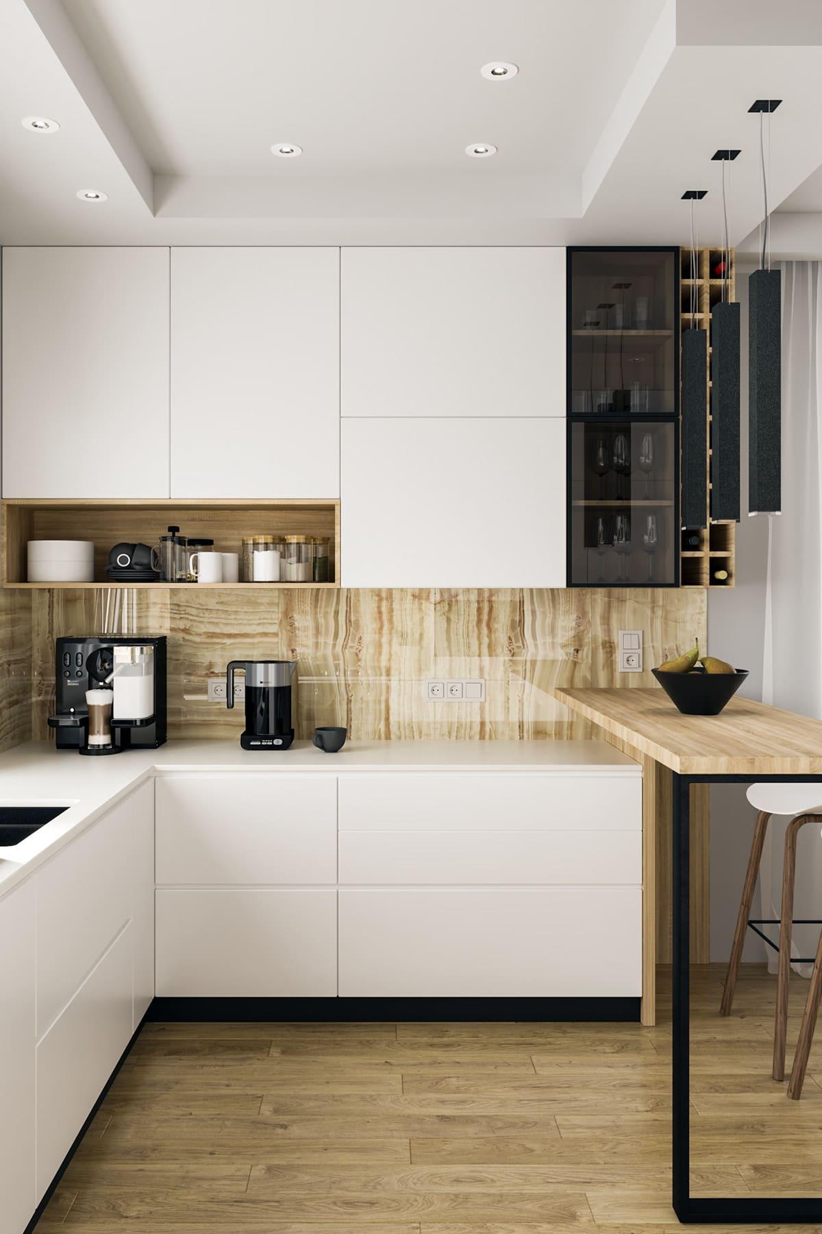 белая кухня фото 65