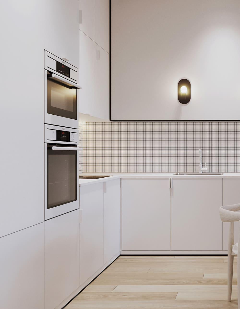 белая кухня фото 45