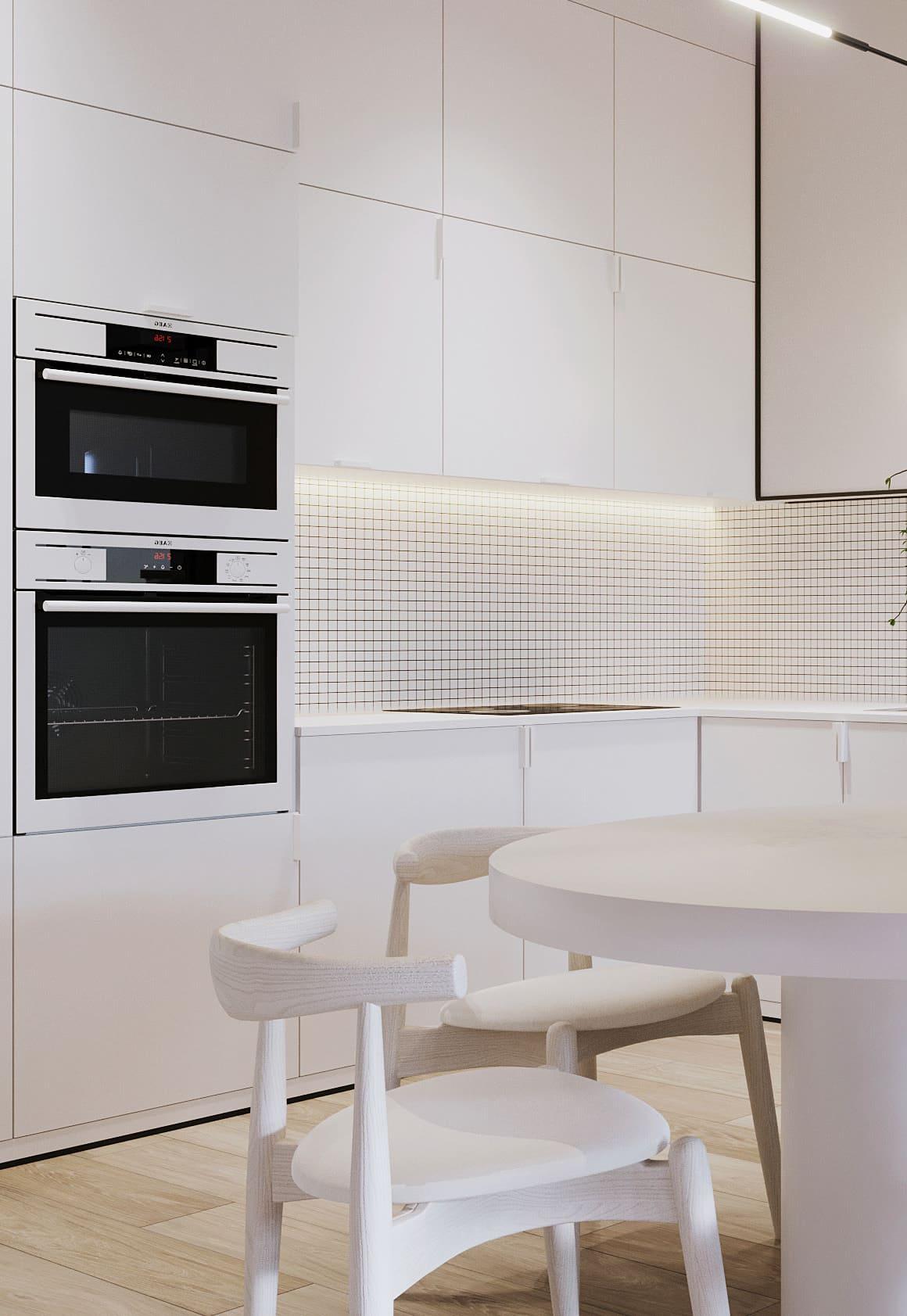 белая кухня фото 48