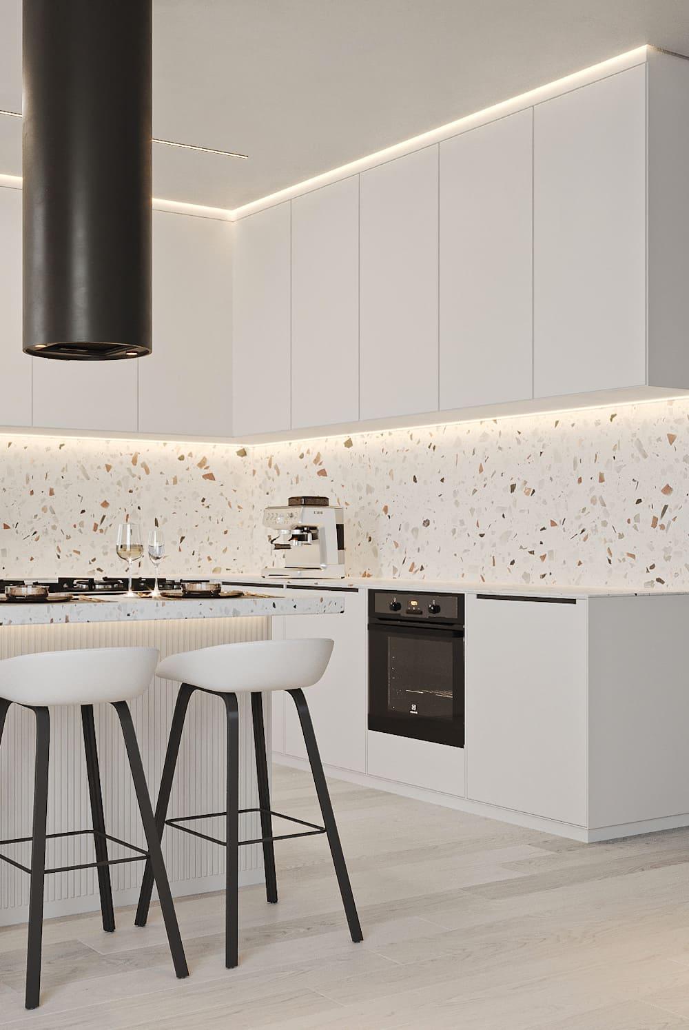 белая кухня фото 44