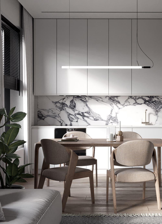 белая кухня фото 59
