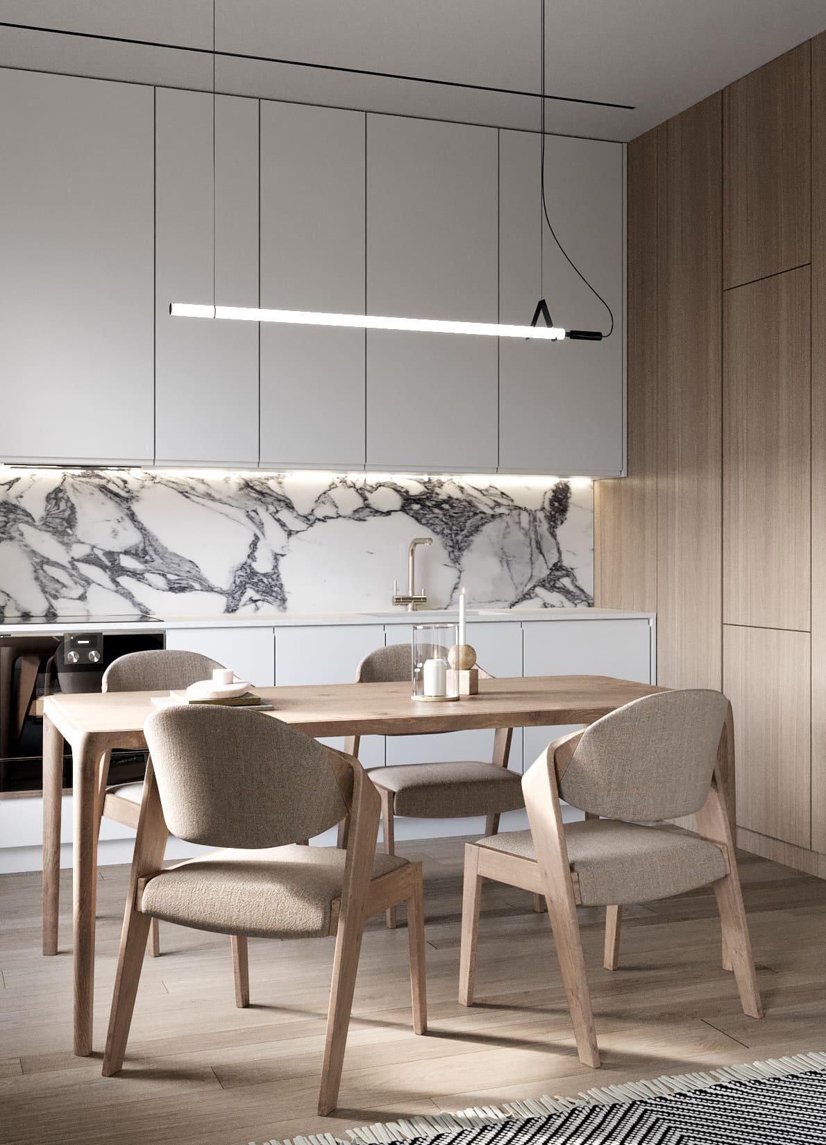 белая кухня фото 60