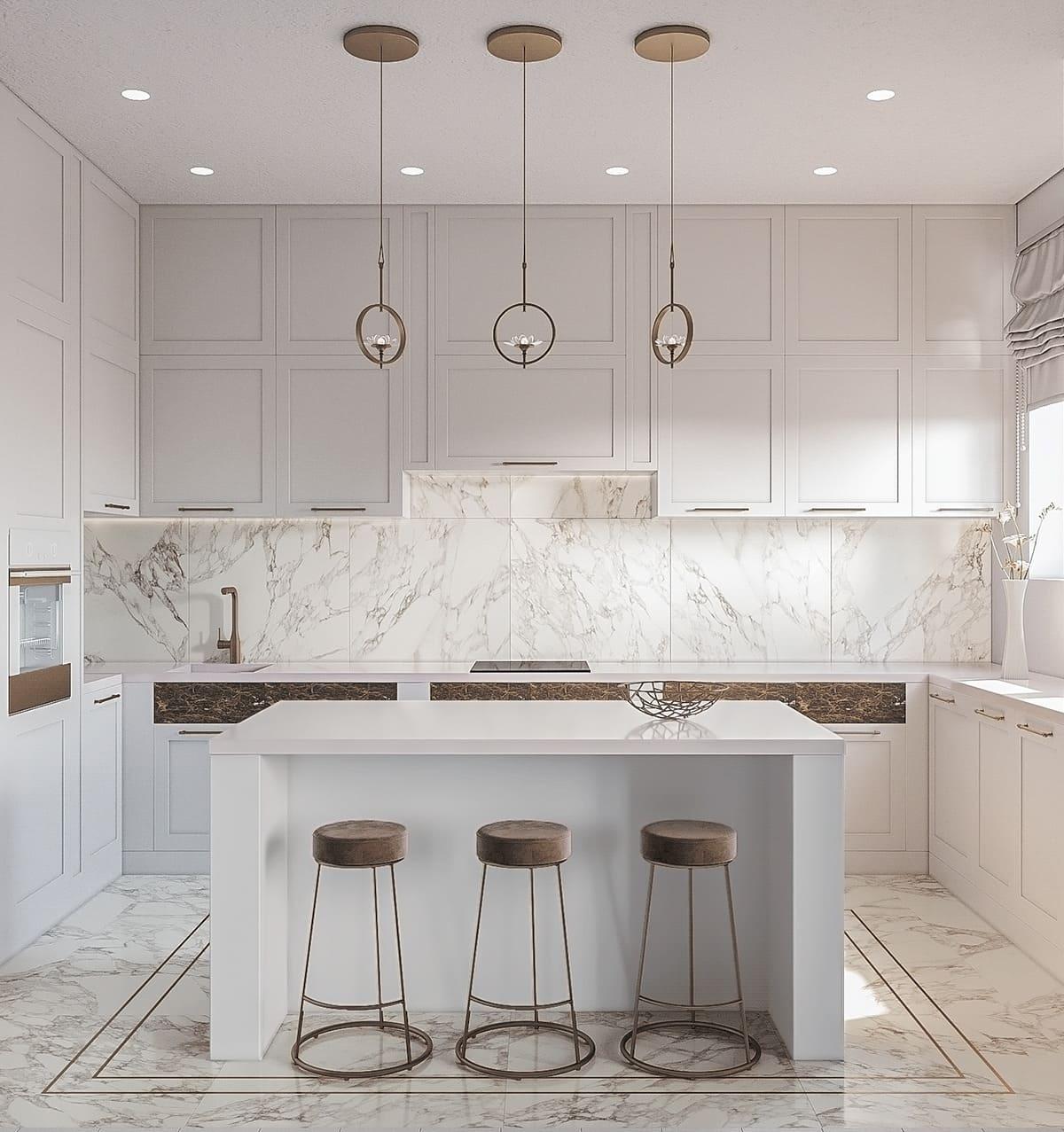 белая кухня фото 72