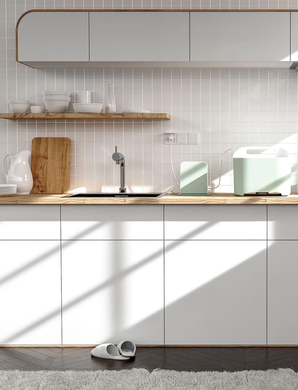 белая кухня фото 19