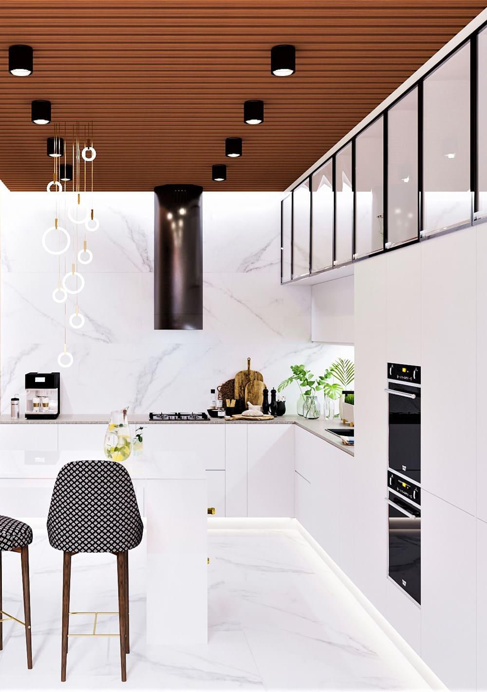 белая кухня фото 26