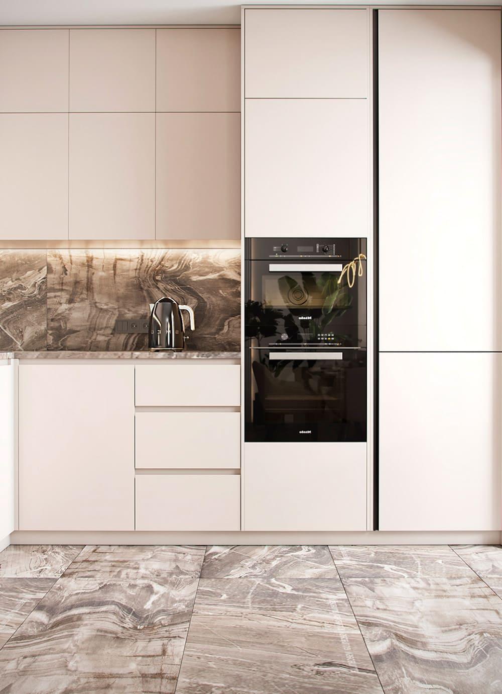 белая кухня фото 8