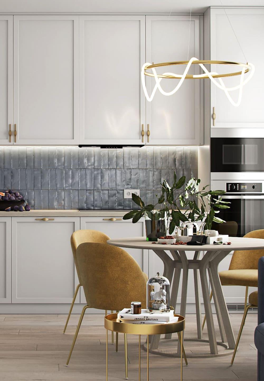 белая кухня фото 17