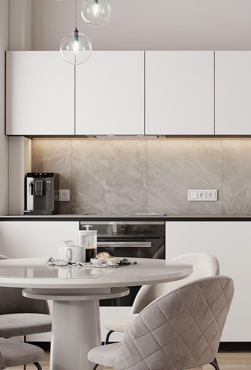 белая кухня фото 30