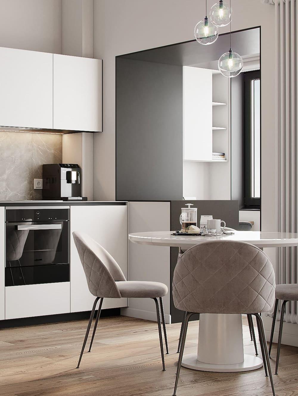 белая кухня фото 32