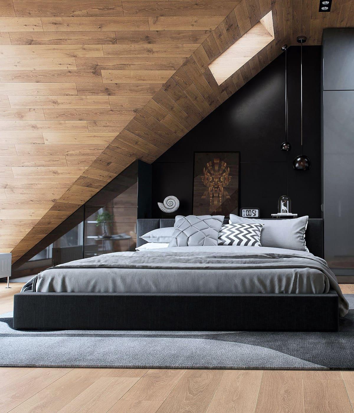 спальня на мансардном этаже фото 3