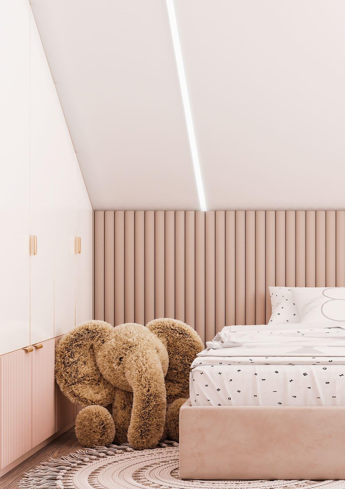спальня на мансардном этаже фото 31
