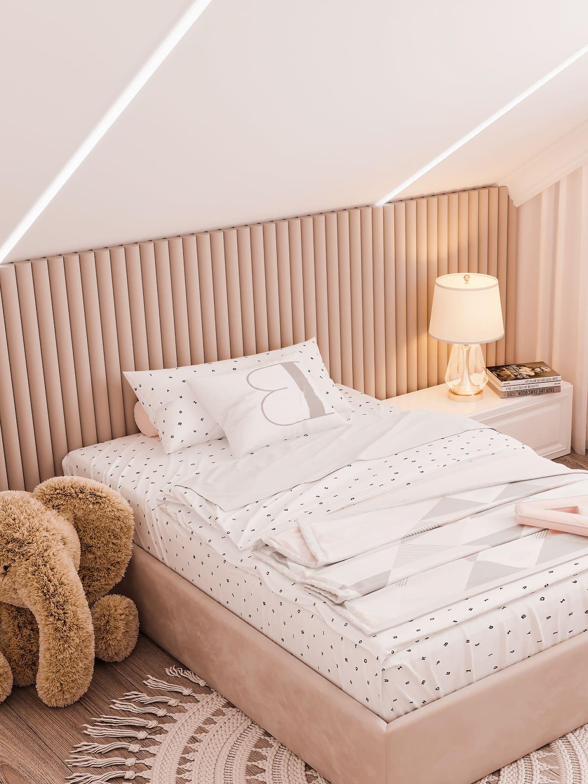 спальня на мансардном этаже фото 32