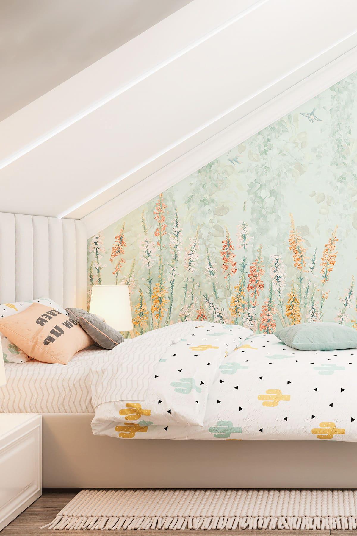 спальня на мансардном этаже фото 15
