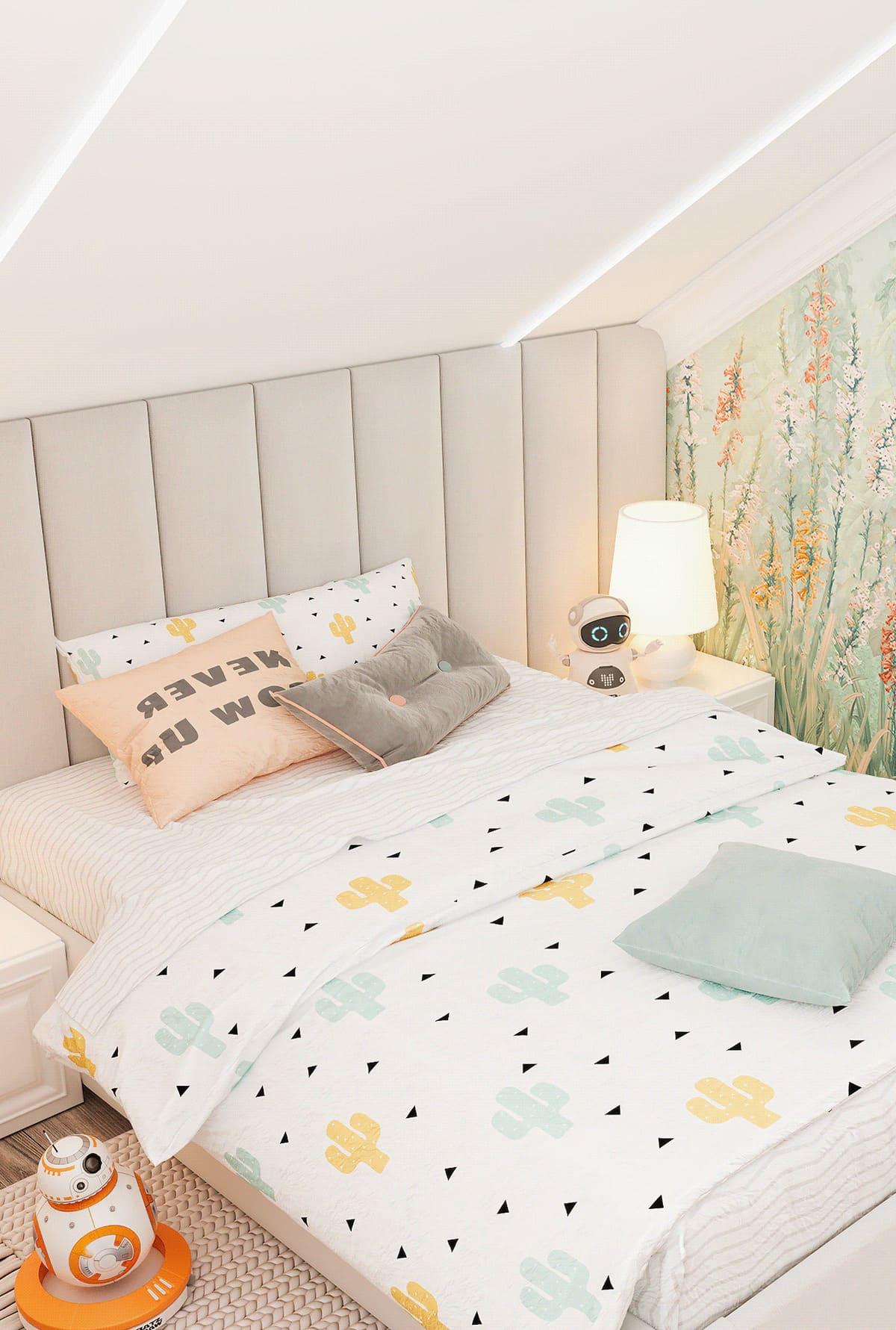 спальня на мансардном этаже фото 16