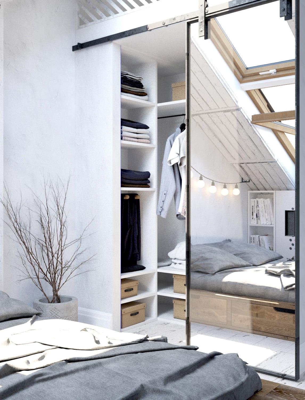 спальня на мансардном этаже фото 34