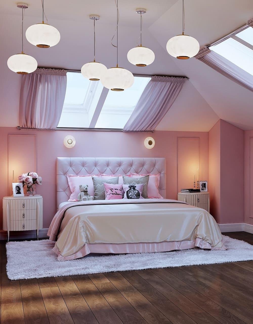 спальня на мансардном этаже фото 27