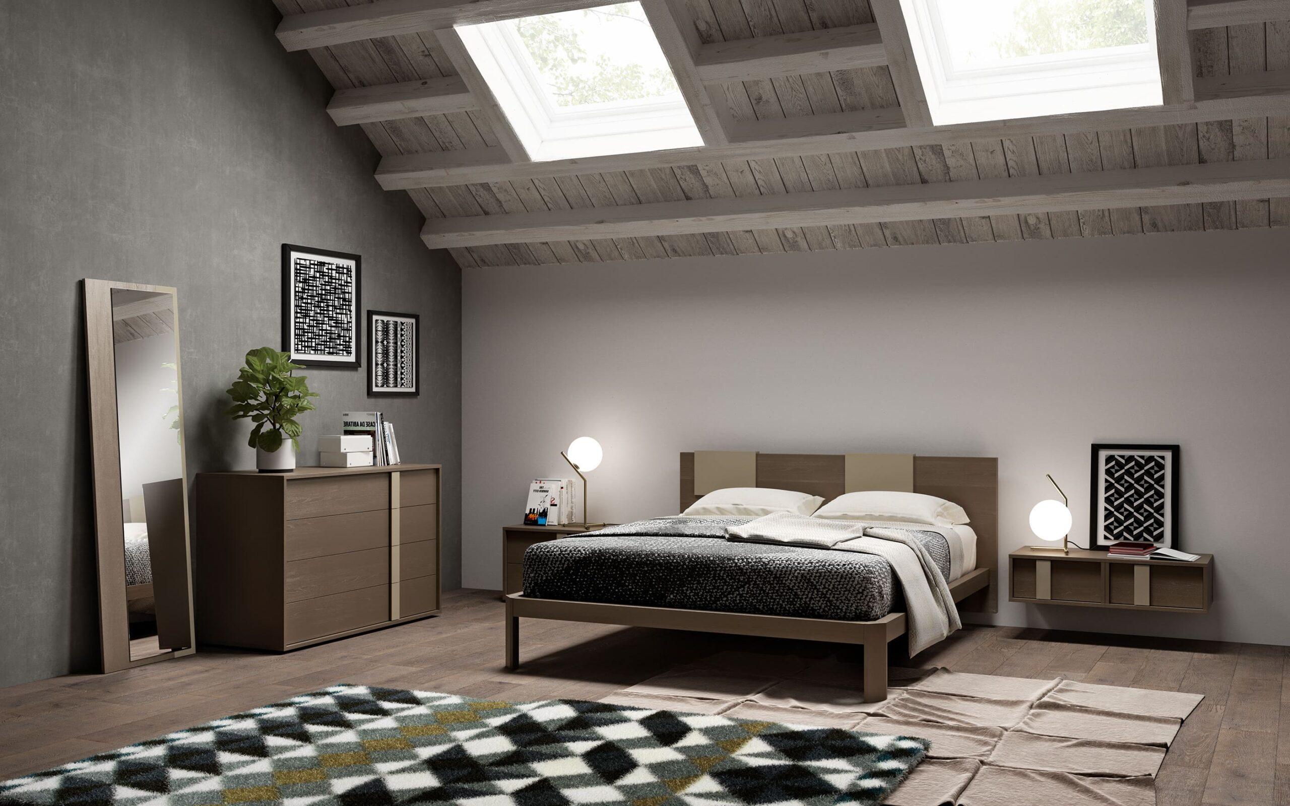 спальня на мансардном этаже фото 19
