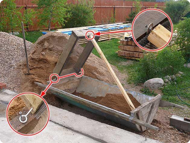 просеять песок