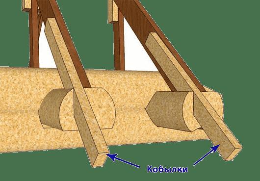 Стропильная система крыши - кобылки
