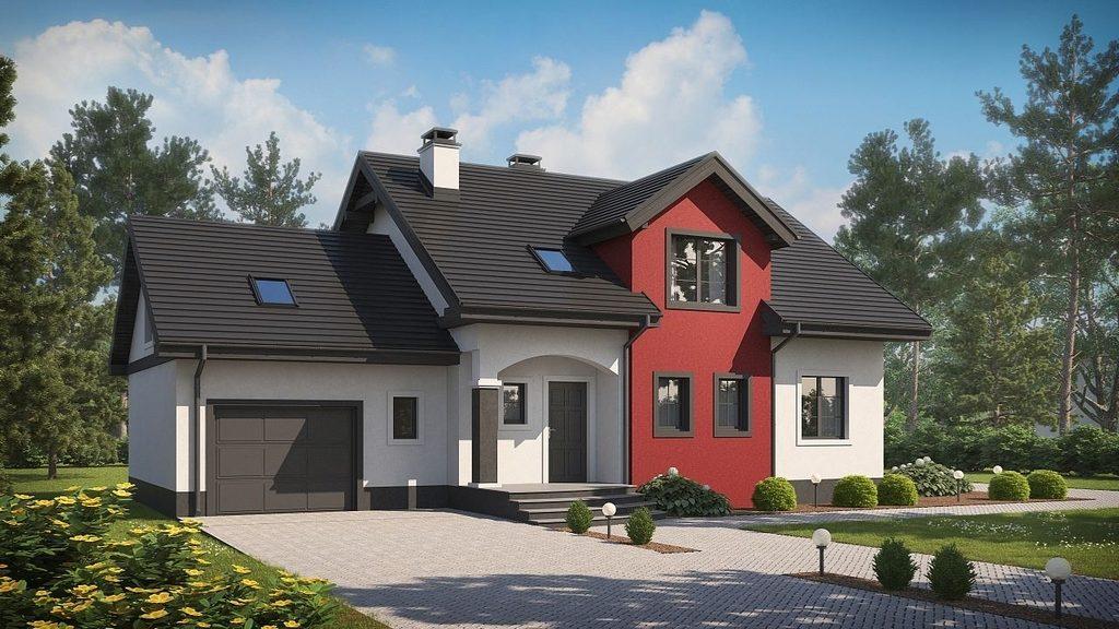 Красивый дом и гараж