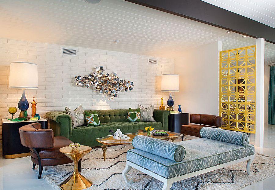 Красивый декор великолепно украшает интерьер гостиной ( исполнение от великолепного дизайнера Joel Dessaules Design)