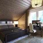 Шикарная кровать из дерева