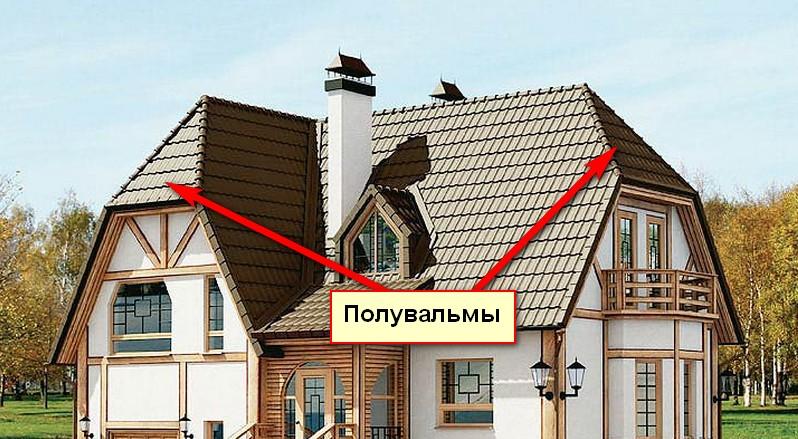 Полувальмовая крыша (голландская)