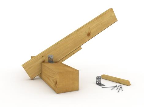 Соединение стропило с верхней обвязкой
