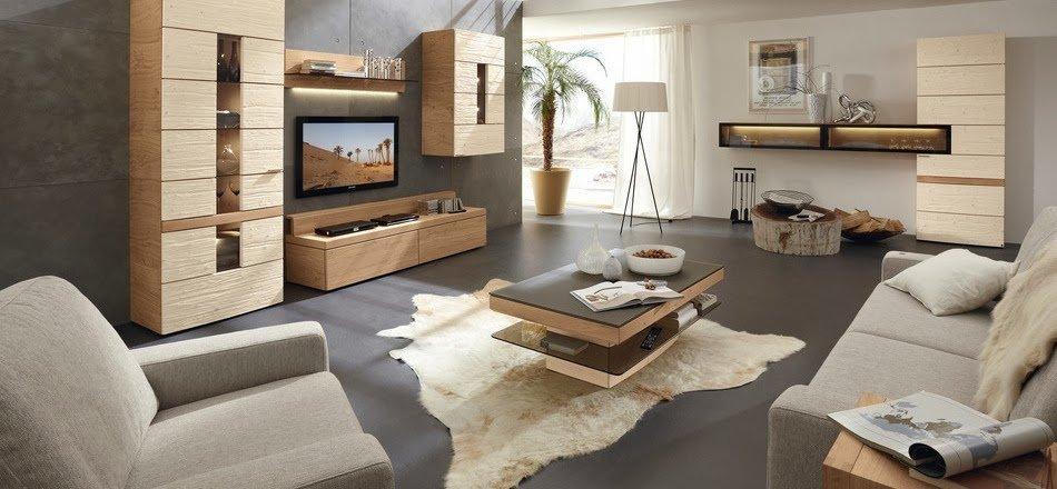 Современная комната в теплых тонах